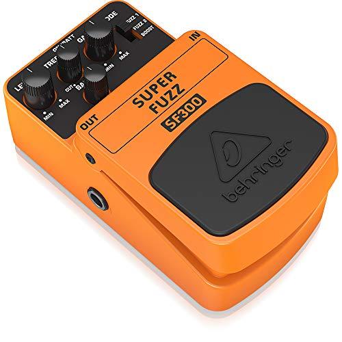 Behringer SF300, Pedal de distorsión para guitarra, color naranja, SUPER FUZZ SF300, Guitar Pedal