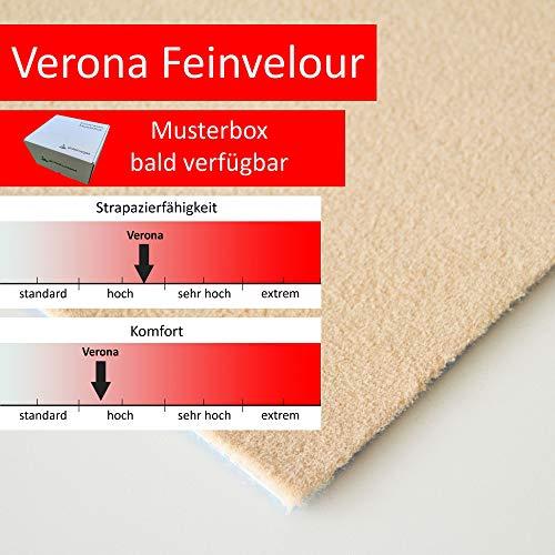 Steffensmeier Velours Teppichboden Verona Meterware | Auslegware für Kinderzimmer Wohnzimmer Schlafzimmer | Beige, Größe: 400x600 cm