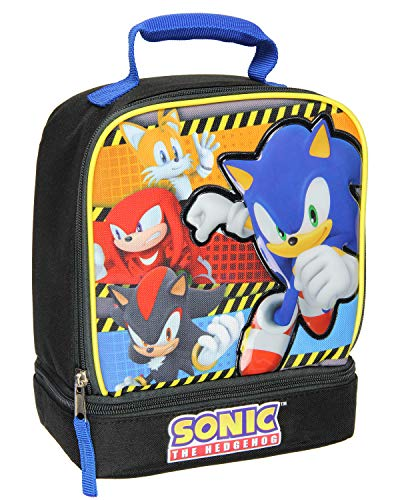 Sonic the Hedgehog Raised Face Dual Compartment Lunch Box Kit