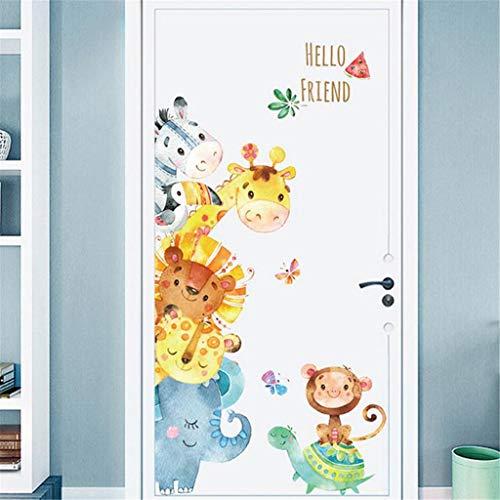 Deajing Stickers Animal de la Historieta Pegatinas Pared Vinilos Decorativos Infantiles Pared Adhesivos Pared Etiqueta de Pared Decoración Salon Hogar Etiqueta de la Puerta