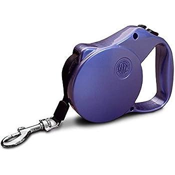 American Kennel Club AKC Metallic Double Lock Retractable Safety Leash, Purple