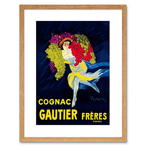Wee Blue Coo AD DRINK ALCOHOL GAUTIER COGNAC BRANDY GRAPES FRANCE FRAMED PRINT F97X2206