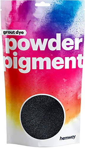 Hemway Grout Dye Pigment Concrete Colour Powder Render Mortar Pointing Powdered Brick Toner (1.8oz / 50g, Metallic Charcoal Black)