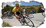 Chicbanners Tour De France Bikes 3D V008 - Adhesivo Decorativo para Pared (1000 mm de Ancho x 600 mm de Profundidad)
