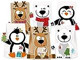 KuschelICH Adventskalender zum Befüllen Eisbär Rentier Pinguin - mit Stickern zum Gestalten und...