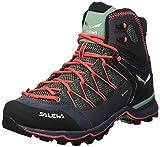 Salewa WS Mountain Trainer Lite Mid Gore-Tex, Trekking-& Wanderstiefel Mujer, Verde (Feld Green/Fluo Coral 5585), 38.5 EU