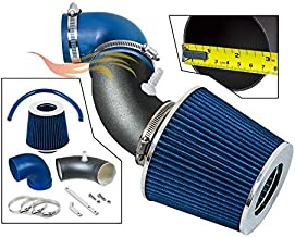 RW SERIES - MATTE BLACK PIPE BLUE - SHORT RAM INTAKE Compatible For 06-08 Honda Fit/Jazz 1.5L L4