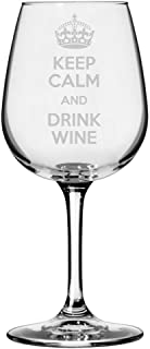Keep Calm and Drink Wine Etched All Purpose 12.75oz Libbey Wine Glass