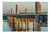 Yanton, South Dakota - New Discovery Bridge with Sunset Orange Light 9011201 (Premium 500 Piece Jigsaw Puzzle for Adults, 13x19, Made in USA!)