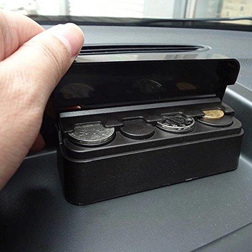 Car Coin Holder Dispenser Case Money Storage Sorter Box Cash Organizer Container
