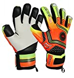 GK Saver Football Goalkeeper Gloves Champ 01 Orange Negative Cut Goalie Gloves