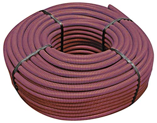Tubifor Tubo protector aislante corrugado plegable autoextinguible diámetro 16 marrón 100 m