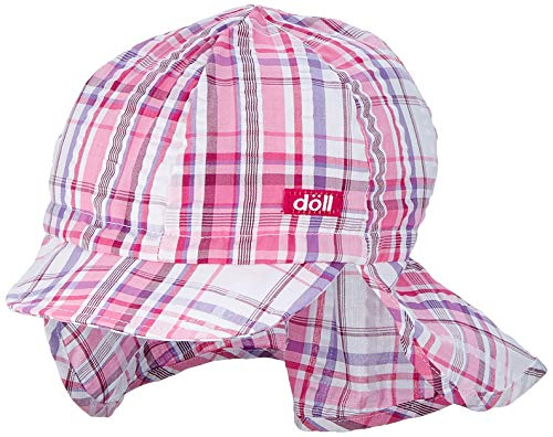 Döll Mädchen Baseballmütze mit Nackenschutz Kappe, Rosa (Beetroot Purple Pink 2420), 53