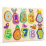 TOP BRIGHT Puzzle de Madera Infantil – Encaja y Ordena los Números - Rompecabezas de Madera para...