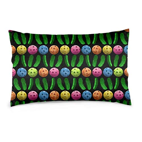 Tonicnc Pickleballs And Green Pickles Pillow Case Custom Pillow Case Cushion Cover White 14'' X20