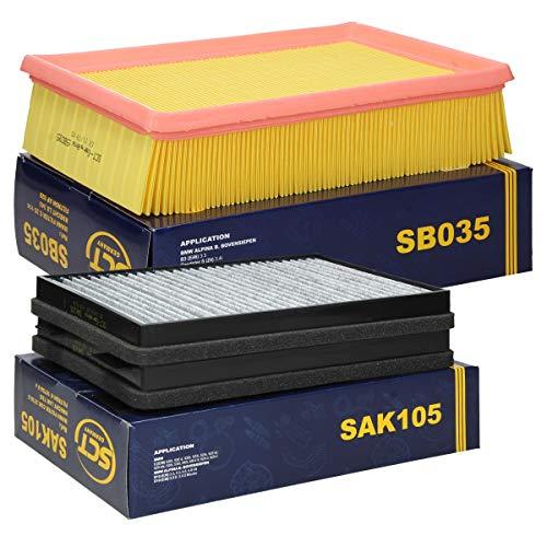 Inspektionspaket Wartungspaket Filterset 1 x Luftfilter 1 x Innenraumfilter mit Aktikohle