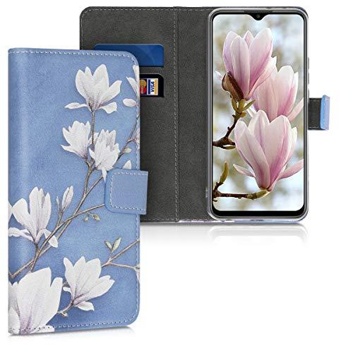 kwmobile Funda Compatible con Xiaomi Redmi 9 - Carcasa de Cuero sintético Magnolias - con Tarjetero