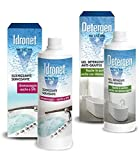 Metacril Igienizzante + Detergente Anticalcare per Vasca IDROMASSAGGIO Jacuzzi, Teuco, Albatros, ECC.- Detergen 500ml + Idronet 500ml. SPEDIZIONE IMMEDIATA