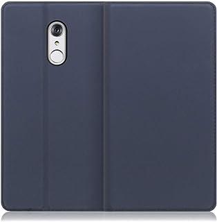 LOOF SKIN Slim LG style/L-03K ケース 手帳型 カバー 極薄 ベルト無し カード収納 カードポケット 薄い 軽い スタンド機能 手帳型ケース スマホケース シンプル 手帳型カバー (ネイビー)