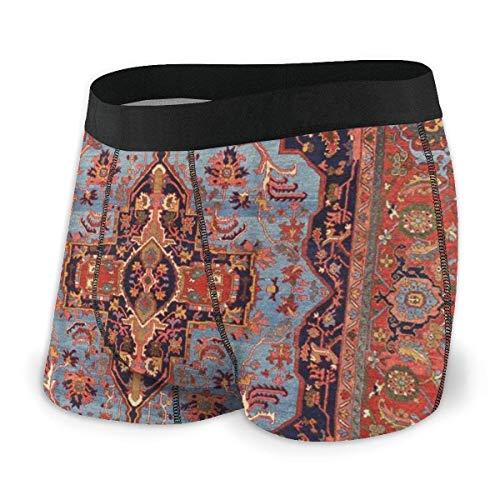 Adamitt Boxershorts Shorts Traditionelle persische Isfahan Vintage Teppich Stil weiche atmungsaktive Bequeme Unterwäsche für Männer