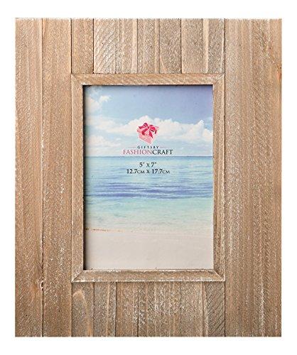 FASHIONCRAFT Distressed Holz breiter Bordüre Rahmen aus Geschenke, 12,7x 17,8cm