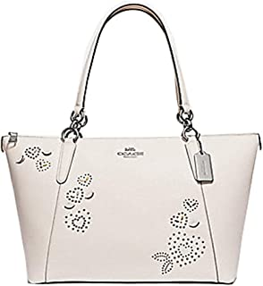 Coach AVA Leather Shopper Tote Bag Handbag