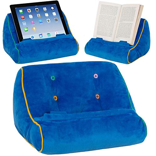 Gifts for Readers & Writers Soporte sofá de Lectura, Atril para Libros, iPad, Tablet, eReader, cojín de Descanso, Idea de Regalo - Modelo Azul