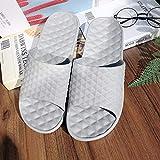 Nwarmsouth Unisex Adulto Bañarse Sandalias,Sandalias de Masaje casero, Zapatillas de baño Suela Blanda-Gris Claro_41-42,Zapatillas de Ducha para el hogar