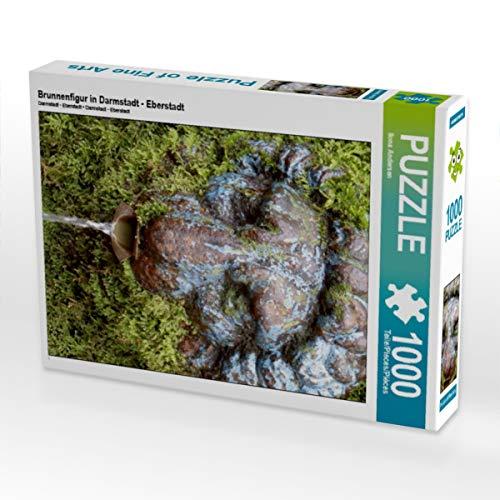 CALVENDO Puzzle Brunnenfigur in Darmstadt - Eberstadt 1000 Teile Lege-Größe 48 x 64 cm Foto-Puzzle Bild von Ilona Andersen