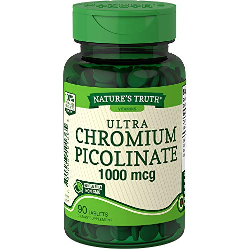 Nature's Truth Chromium Picolinate 1000 mcg Dietary Supplement, 90 Count