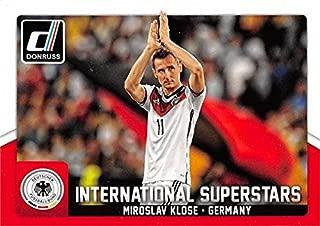 Miroslav Klose soccer card (SS Lazio, Germany) 2015 Donruss International Superstars #34