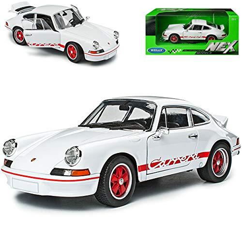 alles-meine.de GmbH Porsche 911 Carrera RS Urmodell Weiss mit Rot 1963-1973 1/24 Welly Modell Auto