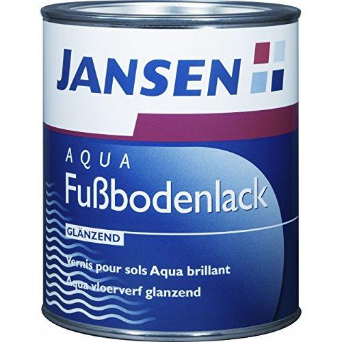Jansen Aqua Fußbodenlack 2,5l ideale Bodenbeschichtung für den Wohnbereich weiß