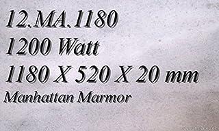 Calefacción por infrarrojos–Calefactor de infrarrojos eléctrico (mármol Magma Calefacción 1200W 12. MA.1180R con Incluye termostato con 2luces de control, interruptor y ajuste de temperatura Control