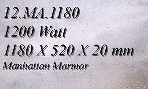 Calefacción por infrarrojos de mármol de calefacción eléctrica calefacción por infrarrojos Magma calefacción 1200 Watt 12th mA, 1180