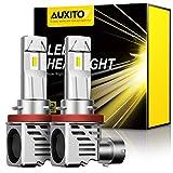 【2020最新 業界初モデル正規品】AUXITO H11 H8 H9 H16 LEDヘッドライト 車用 2年品質保証 新基準車検対応 ZES LEDチップ搭載 驚異の純正ハロゲンサイズ登場 99%車種対応 高輝度12000LM(6000LM*2) 6500K 12V車対応(ハイブリッド車・EV車対応) 定電流回路搭載 長寿命 高速回転冷却ファン付け 放熱性抜群 静音 瞬間起動 光軸調整フリー 2個入り ホワイト - M3H11