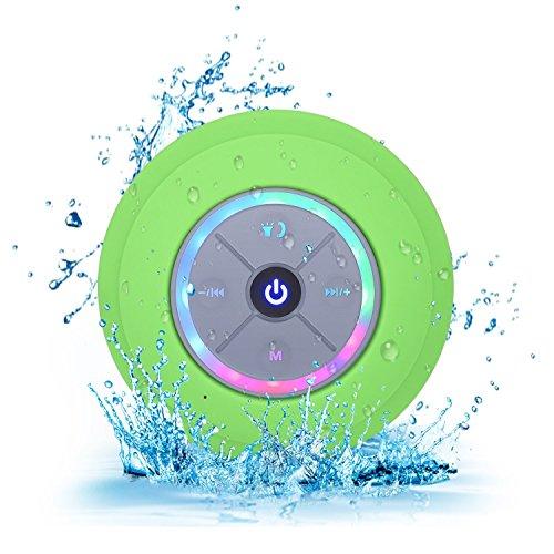 XHZNDZ Altoparlante wireless Bluetooth 4.0 Mini altoparlante portatile impermeabile Microfono incorporato Handfree per telefono, iPad, iPod, tablet (Colore : Verde)