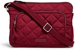 Vera Bradley Iconic RFID Little Hipster in Berry Red Performance Twill