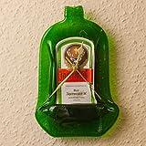 Wanduhr 'JÄGERMEISTER' // Original Glasflasche, gewalzt // HANDARBEIT - Nur kleine Stückzahlen!