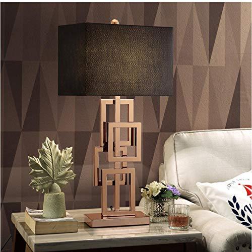 Lámpara de mesa moderna con pantalla de tela LED Lamparas de mesa Lámpara de escritorio de metal dorado E27 Iluminación del hotel Deco abajur para quart