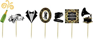 1920s Gatsby Themed Cupcake Toppers