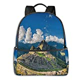 Machu Picchu Pullover Hoodie Student School Bag School Cycling Leisure Travel Camping Outdoor Backpack