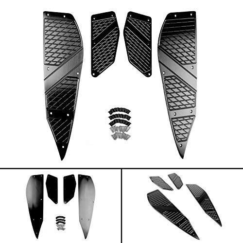 Artudatech Reposapies Moto, Metal Delantero y Trasero Estrib