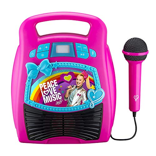 eKids JoJo Siwa Bluetooth Portable MP3 Karaoke Machine for Girls...