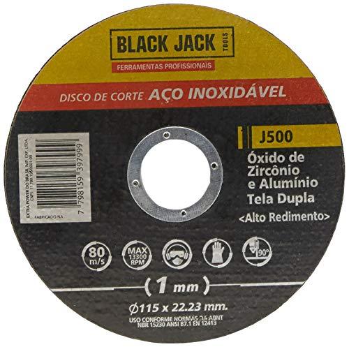 Disco de Corte para Aço Inox 115 x 1 x 22. 23 mm, Black Jack J500