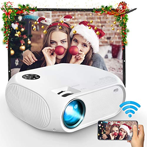 """WiFi Projector, iBosi Cheng Mini Portable Movie Projector with Full HD 1080P, 4500 Lux LCD Projector for 150"""" Screen Home Theater Video Projector Compatible with HDMI,USB,VGA,AV,Android, Windows"""