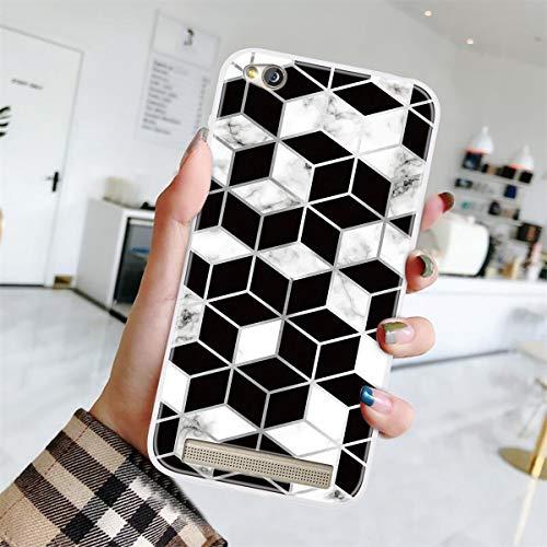 Yoodi Capa para Xiaomi Redmi 5A, capa ultrafina [design de mármor] pele de gel de silicone TPU macio leve, capa protetora flexível à prova de choque - Cor 06