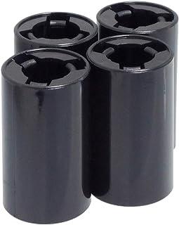 KAUMO 単3電池が単2電池になる電池スペーサー 高耐久 4個セット 電池変換アダプター (ブラック)