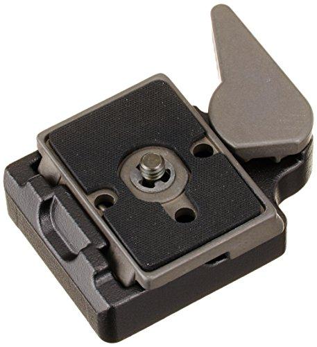Manfrotto Adaptador de conexão rápida 323 RC2 com placa de liberação rápida 200PL-14 - substitui 3299-Preto