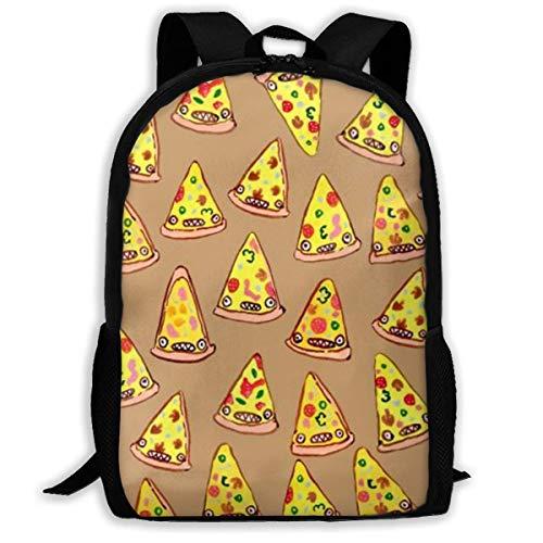 XCNGG Erwachsenen-Vollformat-Druckrucksack Lässiger Rucksack Rucksack Schultasche Ham and Pineapple Pizza Large...